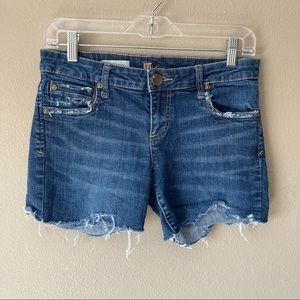 Kut from the kloth catherine distressed shorts
